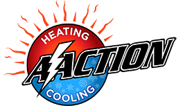 A-Action Heating and Cooling logo
